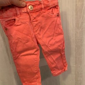 Zara Pink Distressed Baby Girl Jeans - 3-6 M